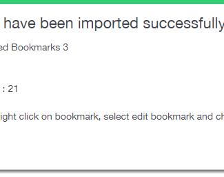 import Bookmark into mymark.me
